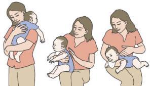 baby burp positions