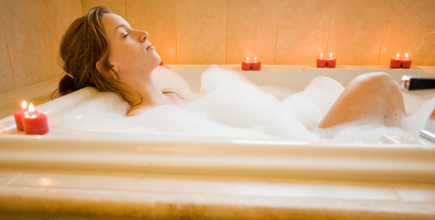 bath-with-hot-water